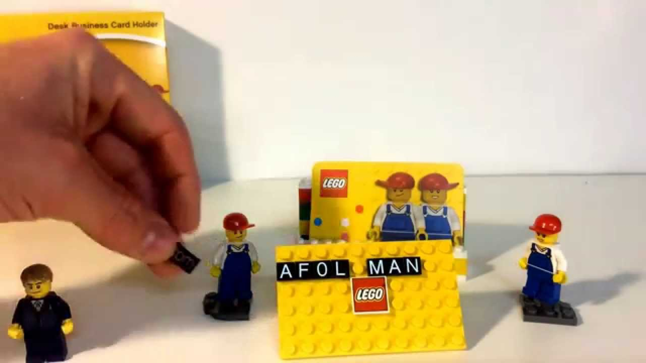 LEGO Business Card Holder set 850425 - YouTube
