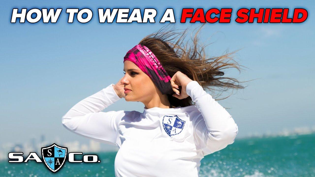 How To Wear a Face Shield - SA Company