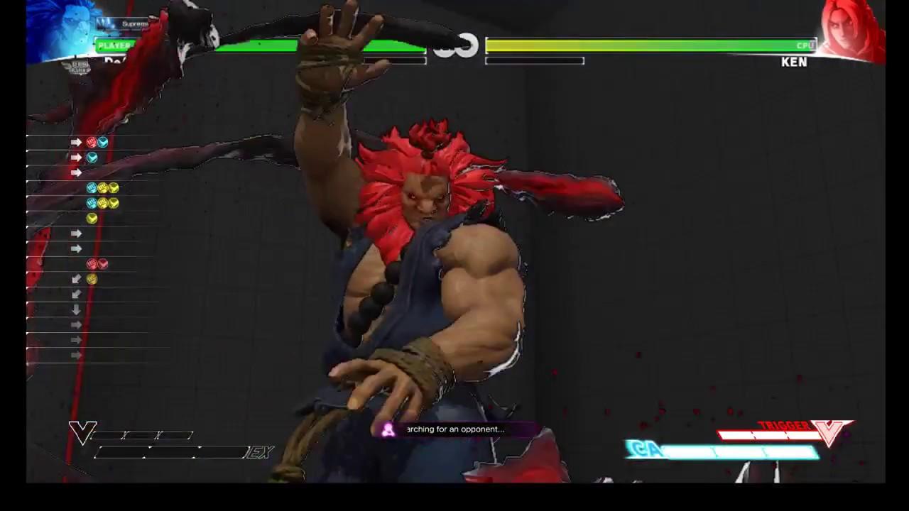 Sfv Akuma Vskill Raging Demon Shortcut Youtube