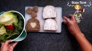 ÖĞRENCİ YEMEKLERİ - Öğrenciler için Krem Peynirli Sandviç - Practical Sandwich  - Bizim Terek