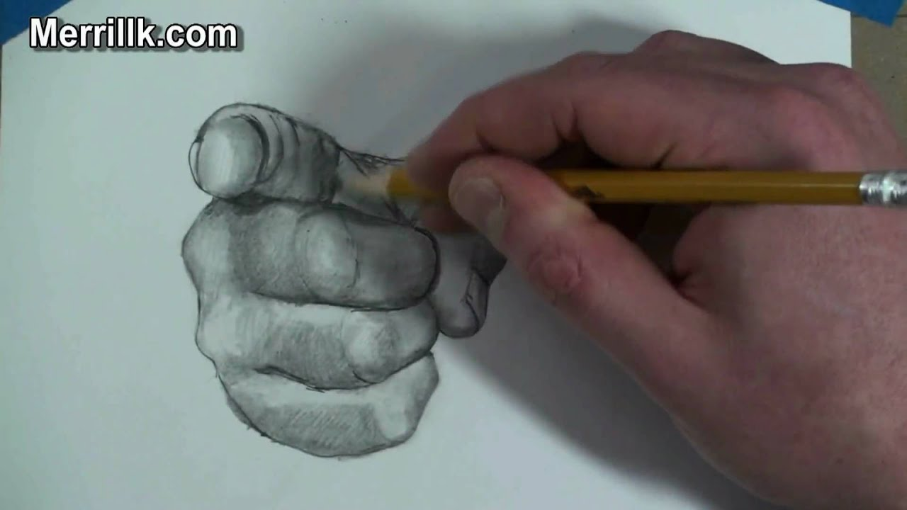How to draw the hand step by step pointing finger uncle sam gesture