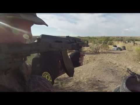 Russian AK 47 By Izmash Converted BY Kalashnikov USA In Slow Mo