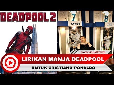Lirikan Manja Deadpool ke Cristiano Ronaldo Saat Sambangi Markas Real Madrid