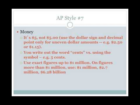 12 Rules of AP Style