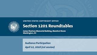 Seventh Triennial Section 1201 Rulemaking Hearings: Washington, DC (April 12, 2018) - Aud. [1] thumbnail