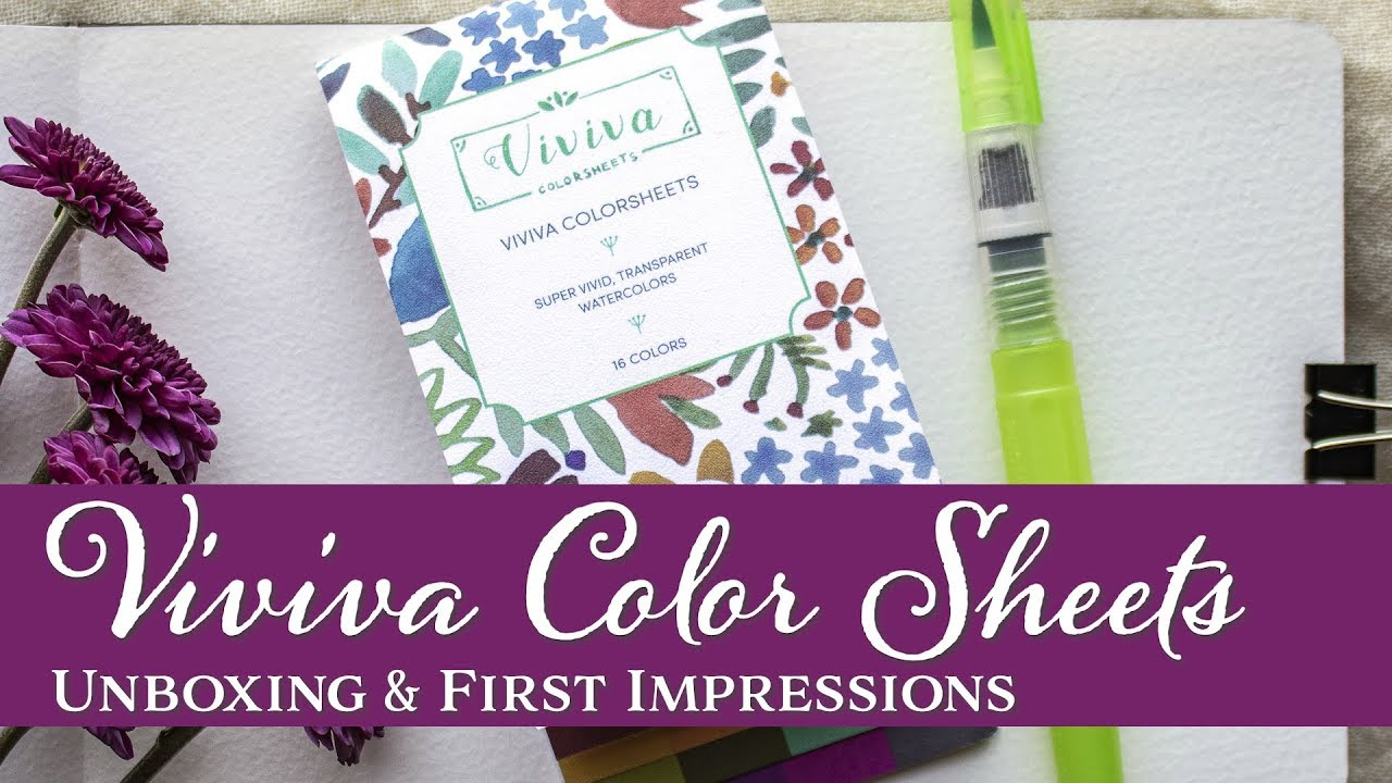 Viviva Color Sheets First Impressions Youtube