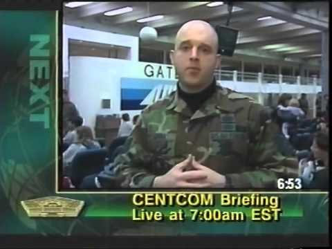 Pentagon Channel Sign-on from 3/23/2003 1008