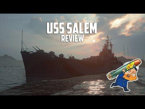 World of Warships USS Salem Review - Tier 10 Premium USN Cruiser