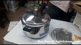 Hawkins Stainless Steel Pressure Cooker 8 Ltr  B85 - Unboxing   Apnidukaan.com