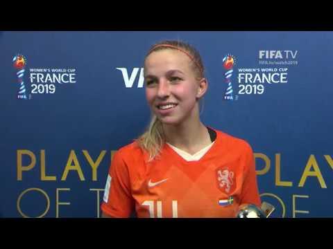 Jackie Groenen – Player of the Match – Netherlands v Sweden