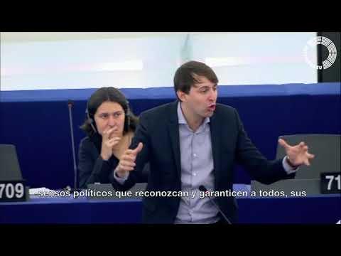 Javi López parla al PE sobre la situació a Catalunya