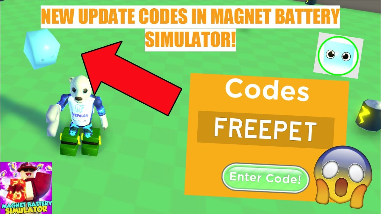 Codes For Roblox Magnet Battery Simulator New Update Codes In Magnet Battery Simulator Free Pet