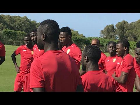 Entraînement du Syli National de Guinée à El Jadida