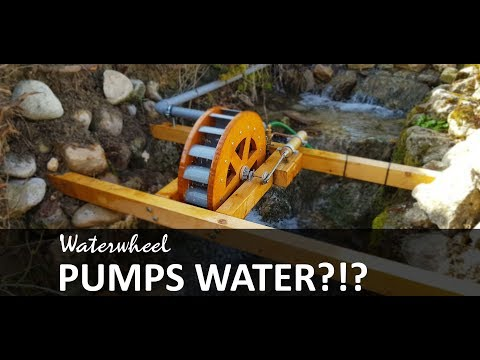 Water Pumping Waterwheel