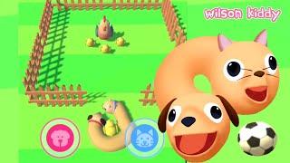 Game Anjing dan Kucing Lucu 😂🤣 | Cats and Dogs 3D | Game Wilson Kiddy screenshot 3