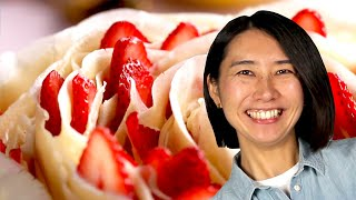 Download Video How to Make a Rose Crepe Cake with Rie MP3 3GP MP4