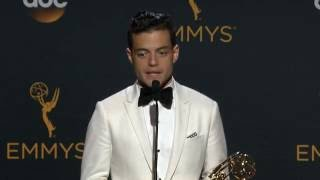 Rami Malek Emmys 2016 Full Backstage Speech