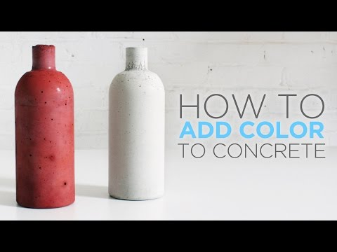 How to color concrete with an integral pigment - YouTube