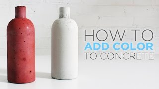 Gambar cover How to color concrete with an integral pigment