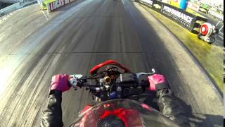 on board with hannah lorca buell blast dragbike july 2014