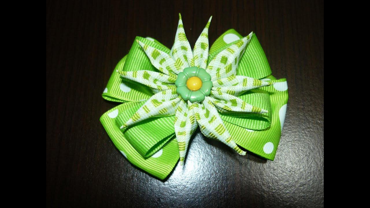 Tutorial flores de puntas accesorios del cabello de las - Manualidades con lazos ...