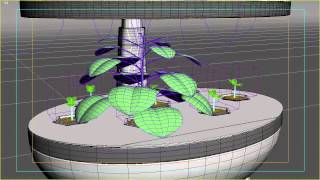 plant grow test 2 - grow FX plugin for 3ds max