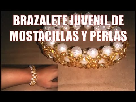 Bracelet of chaquira and pearls  - Fine jewelery (DIY)