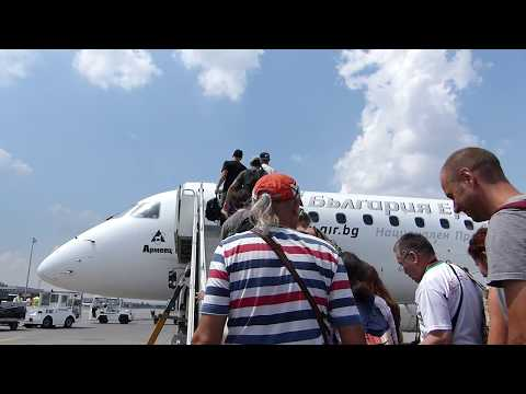 ᴴᴰ✈Sofia to Burgas via Varna✈Bulgaria Air✈Embraer 190