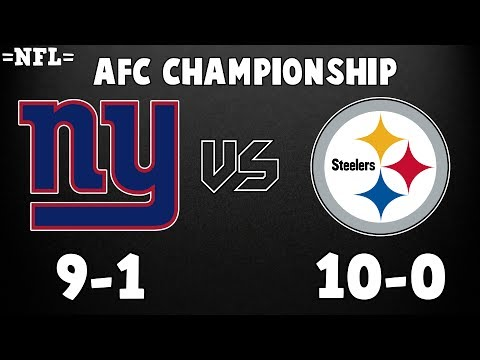 Giants vs Steelers || =NFL= AFC Championship Highlights