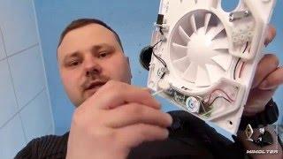 видео Бесшумный вентилятор для ванной и туалета с обратным клапаном
