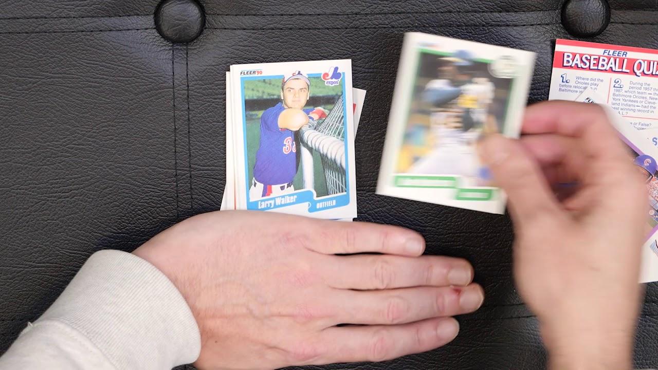 Toms Cards 1990 Fleer Baseball Card Pack