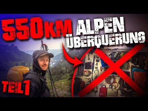 550km zu Fuß über die Alpen Alpenüberquerung Trekking Wandern Traumpfad München Venedig #01