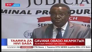Jaji mkuu David Maraga kuzungumza kwenye uzinduzi wa kitabu cha uhalifu
