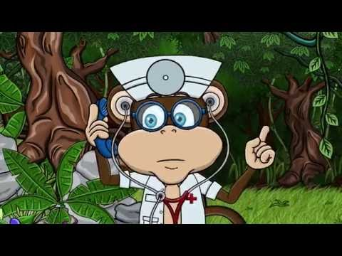 Cinci maimutele - Cântece pentru copii Paradisul vesel TV