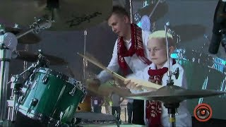 Джаз на Днепре 2018 - Smoke -  Drum show - Daniel and Ilya Varfolomeyev