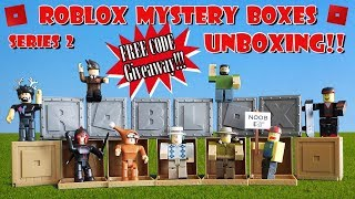 Roblox Series 2 Mystery Boxes Unboxing | FREE CODE GIVEAWAY! (DONE)