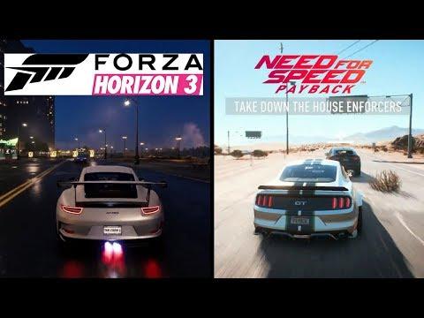 Need for speed Payback vs Forza Horizon 3 Gameplay