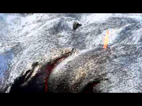 Hawaii Kilauea Volcano Puu Oo Vent Lava Flow Nikon
