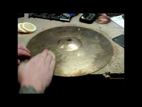 Cymbal Cleaning - The Cheap Easy Way