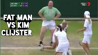 Kim clijster gives her skirt to spectator