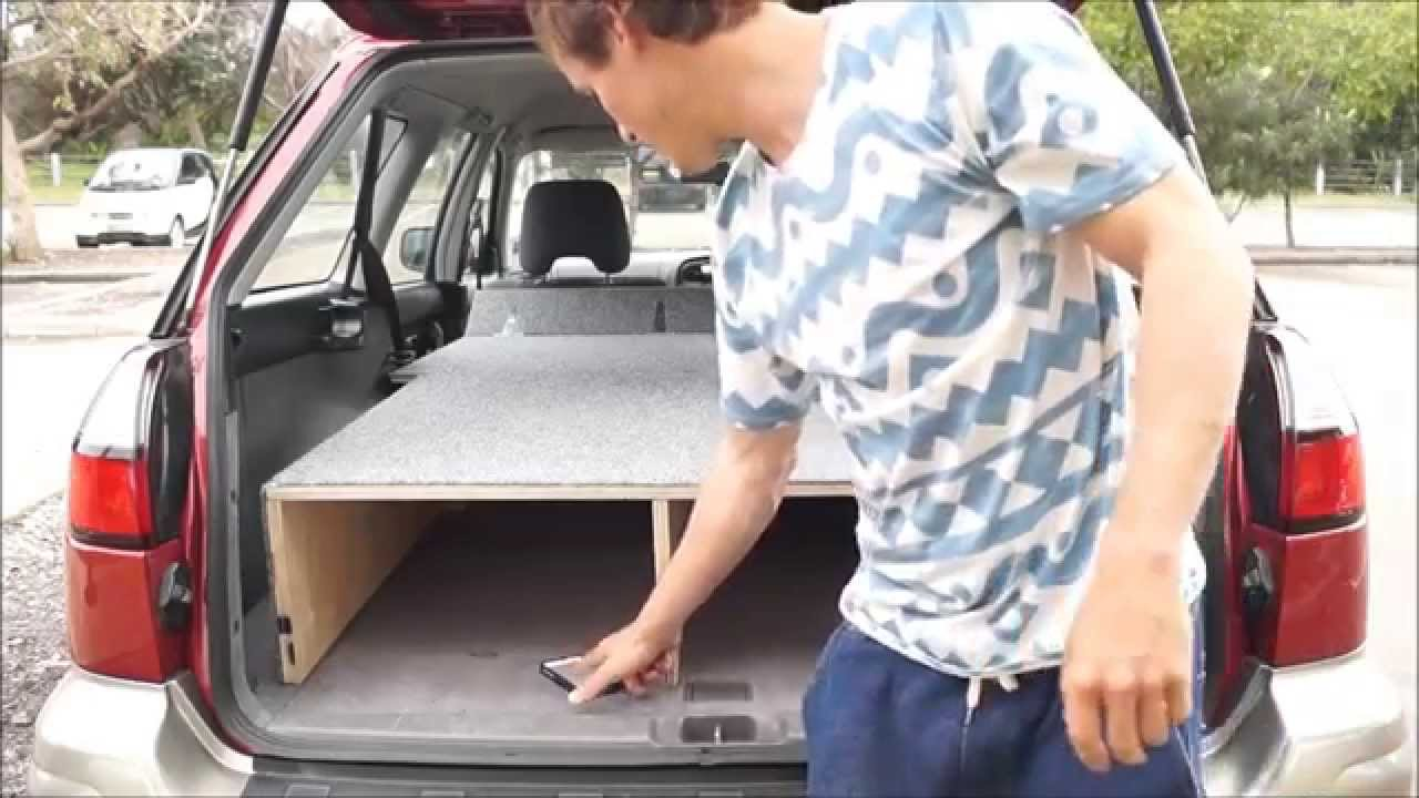 Sleeping platform for in my car, 29sec set up! (how to ...