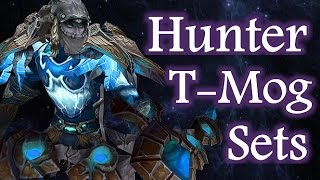 5 wow hunter transmog sets with artifact bow gun preview mm bm video guide for legion