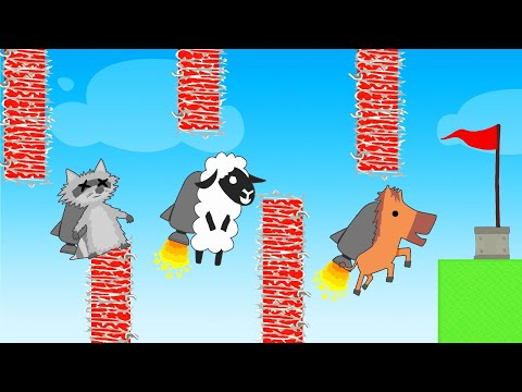 FLAPPY BIRD + JETPACK = IMPOSSIBLE! (Ultimate Chicken Horse)