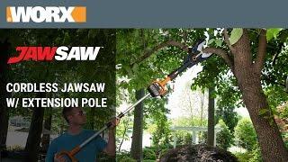 WORX 20V MaxLithium Cordless JawSaw w/ Extension Pole - WG321