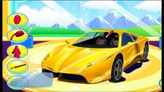 Мультик про МАШИНКУ! Гоночная спортивная машинка - СУПЕР АВТОСЕРВИС (ремонт, мойка) CAR WASH(, 2015-07-05T19:09:03.000Z)