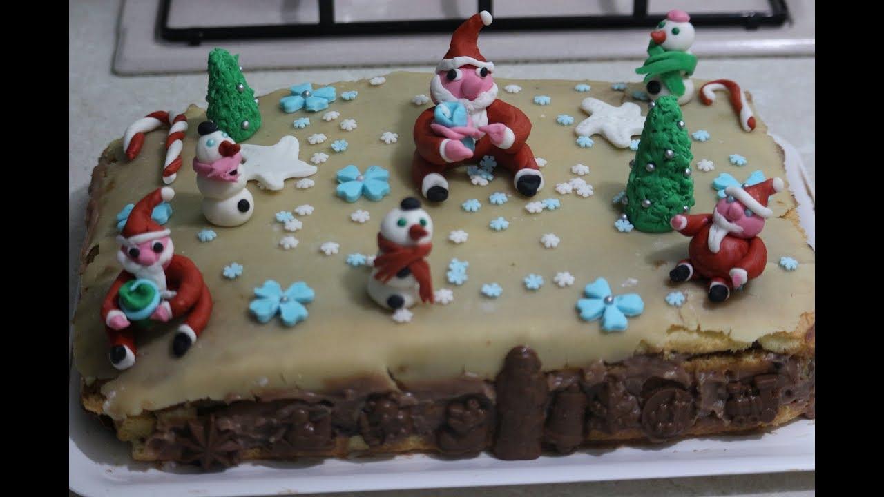 Torte Decorate Per Natale torta per natale