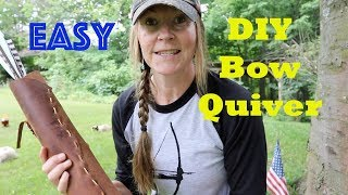 Easy DIY Traditional Leather Bow Quiver