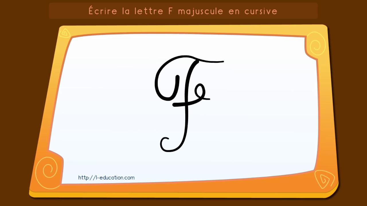Apprendre à écrire la lettre F majuscule cursive - YouTube