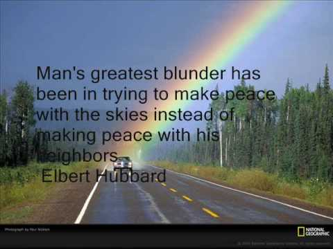 """""""Rainbows"""" and quotes of peace and love- a relaxing song by Rhonda Watson"""