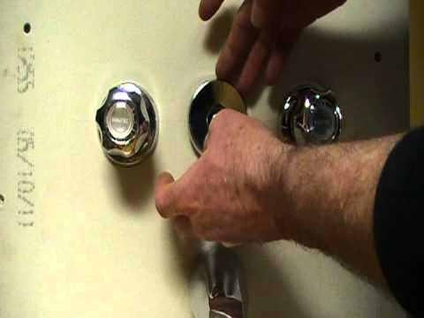 How to repair or fix a bath and shower faucet..little water going to ...